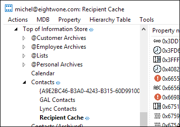 Clearing AutoComplete and other Recipient Caches