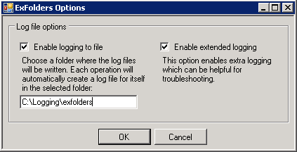 Exfolders Options