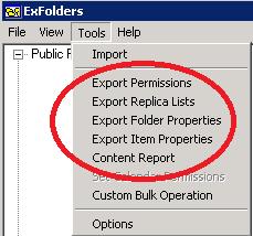 Exfolders Reports
