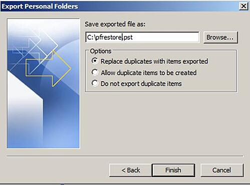 Exchange 2010 Public Folder Data Recovery Step 8