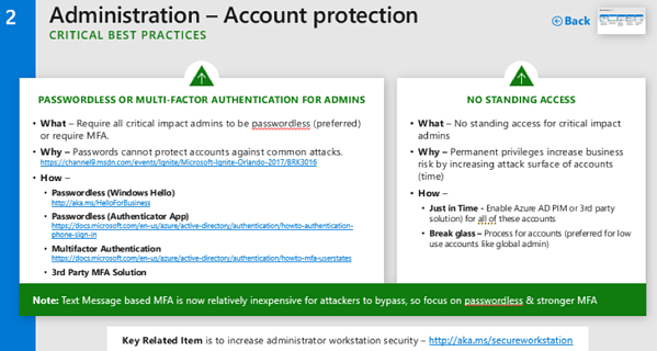Admin Account Protection