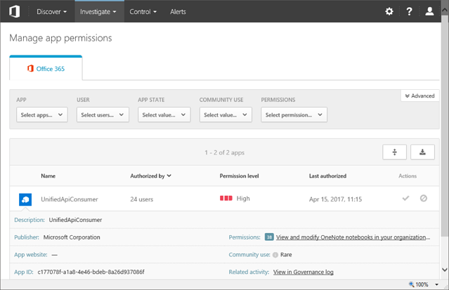 Advanced Security Management in Office 365 – One Year After