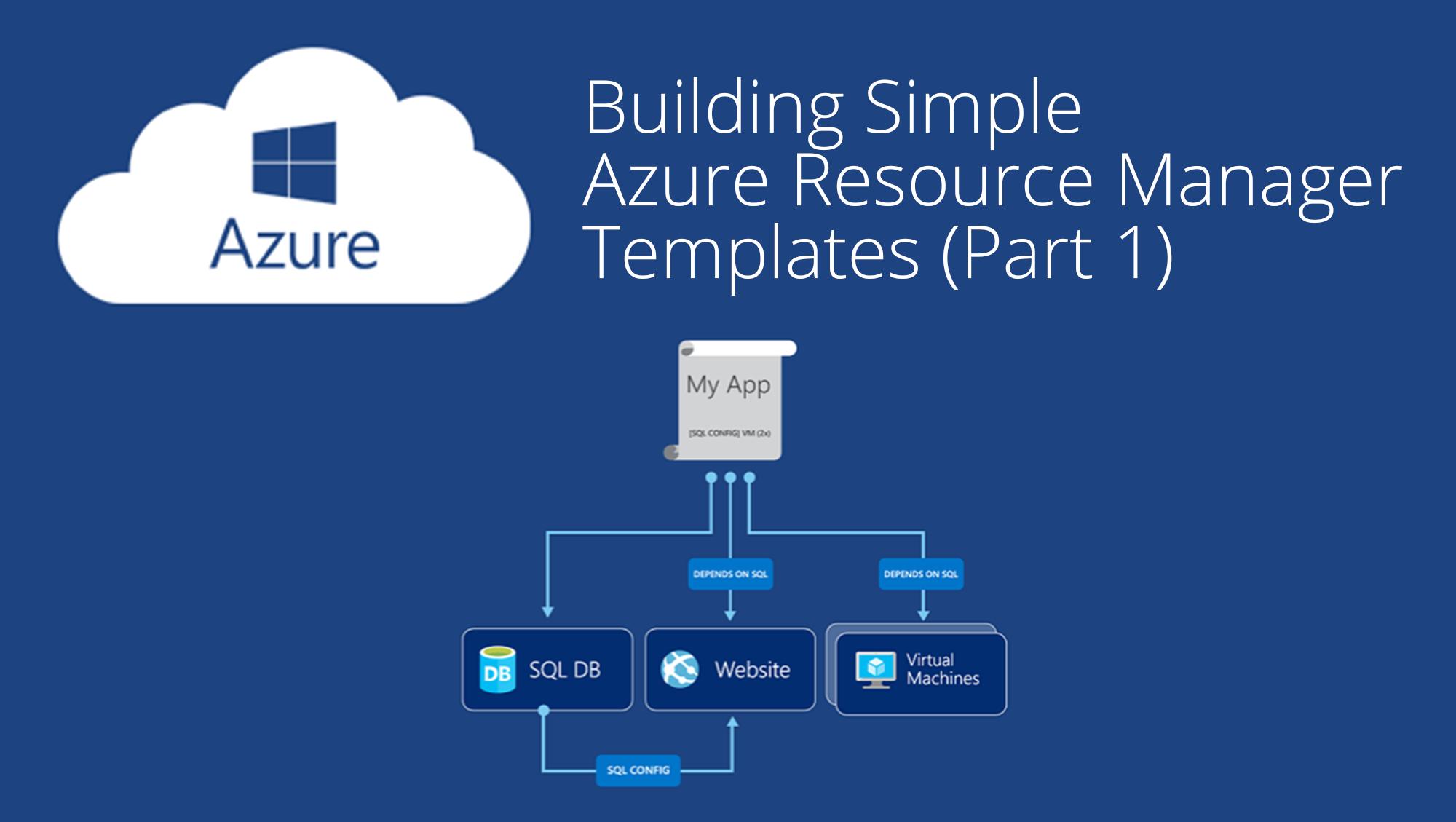 Building simple azure resource manager templates part 1 maxwellsz