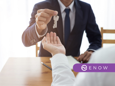 persons exchanging keys