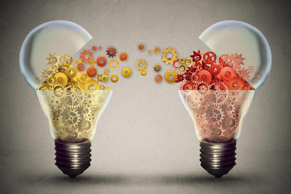 Lightbulbs exchanging machine gears